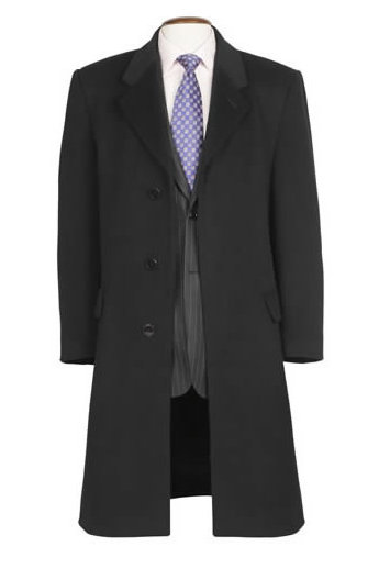 CASHMERE 3/4 LENGTH OVERCOAT