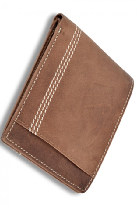 A tan bi-fold leather Wallet
