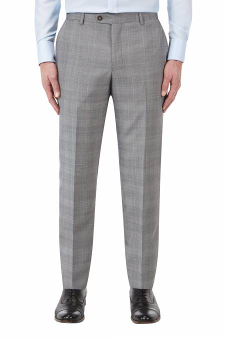 Aintree Tailored light Grey Check trousers