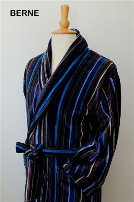 Berne 100% Cotton Velour Dressing Gown