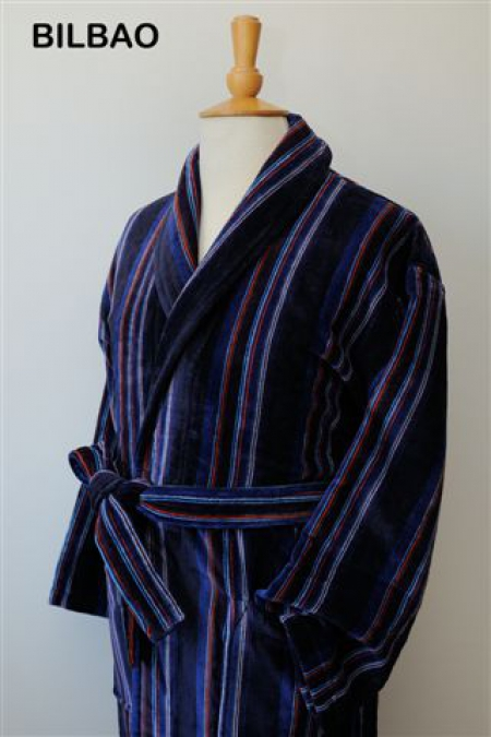 Bilbao 100% Cotton Velour Dressing Gown