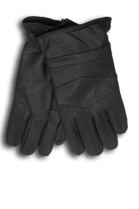 Black Lamb Skin Gloves