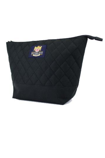 Black Quilted Washbag