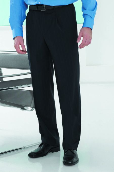 Branmarket classic single pleat trousers - mens pleated trousers