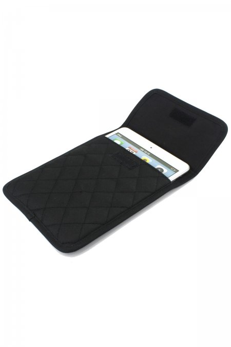 Black Quilted I-Pad Case