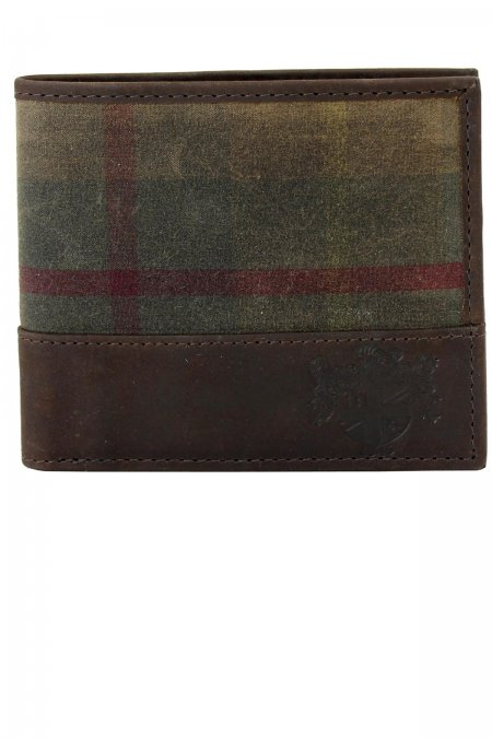 Millerain Waxed Tweed Wallet