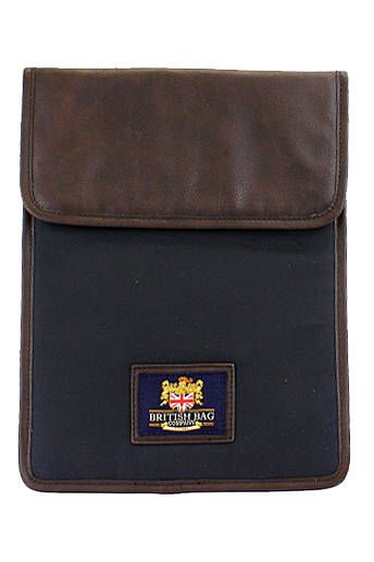 Waxed Cotton Navy I-Pad Case