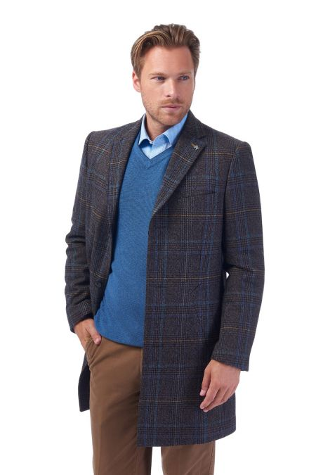 Broomfield Lovat Overcheck Short Overcoat