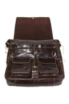 Brown Glaze Man Bag