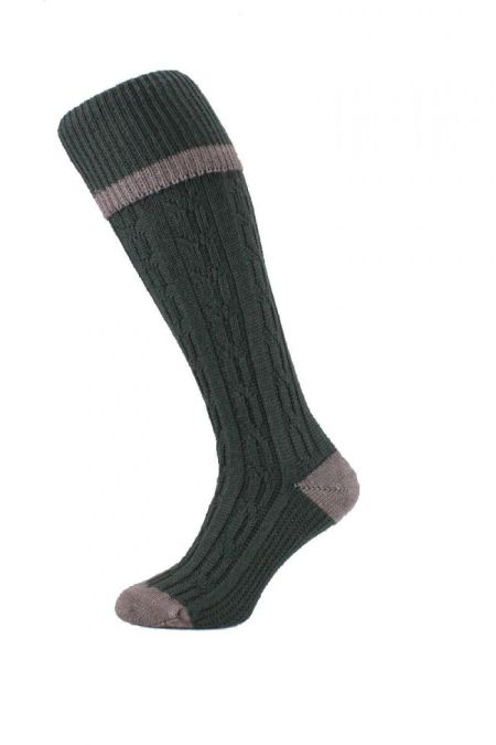Cable Stripe Shooting Sock