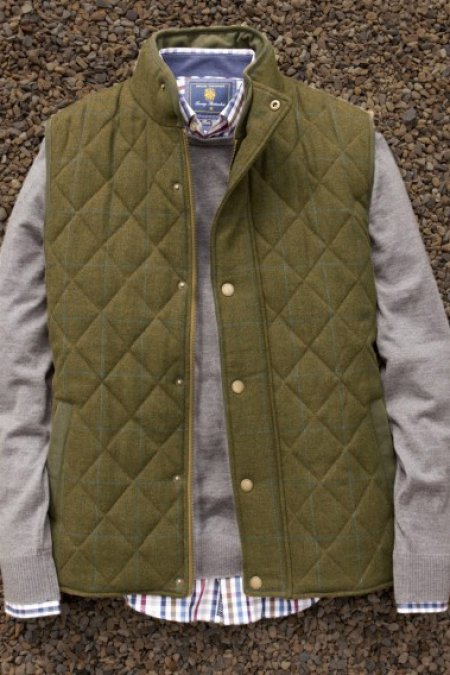 Chatsworth Tweed Gilet by Brook Taverner