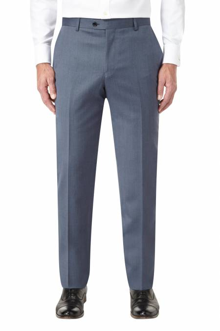 Chilton Flat front trousers 100% wool