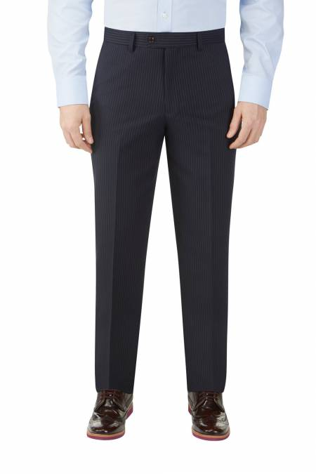 Cradley Navy Stripe Tailored Trouser