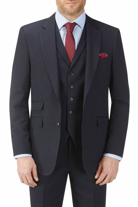 Cradley Tailored Navy Stripe Suit Jacket