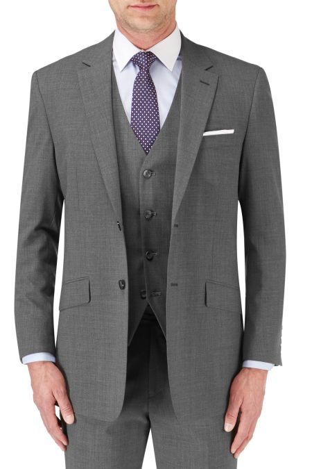 In Grey New Fashion Skopes Mens Formal Wool Blend Single Breasted 2 Piece Suit darwin