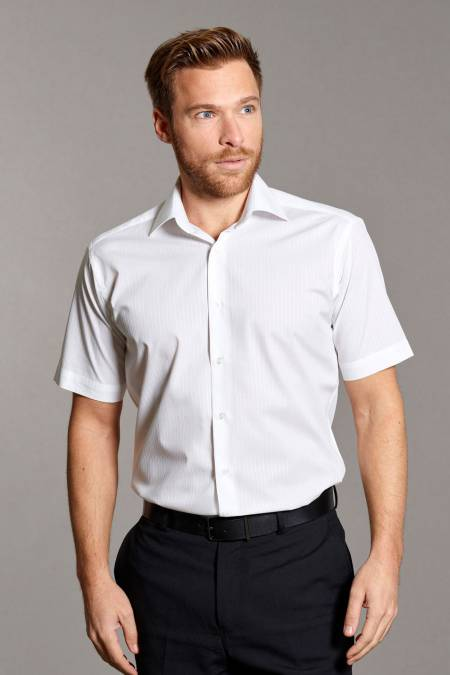 Disley Executive Short Sleeve Self-Stripe Shirt