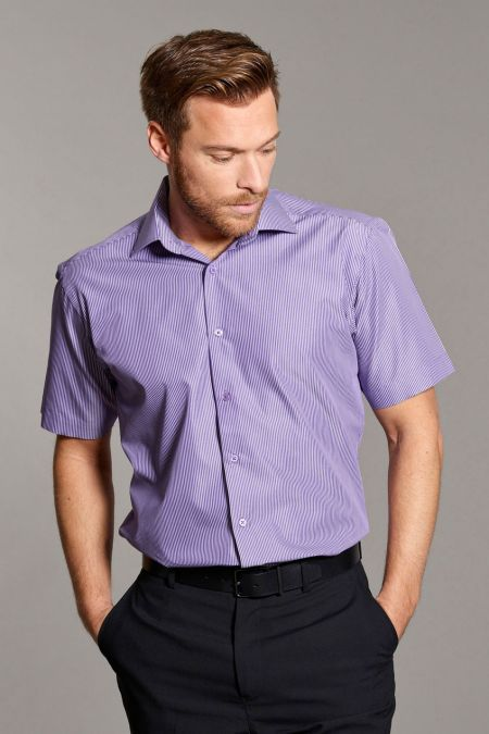 Disley Fine Stripe Short Sleeve Shirts