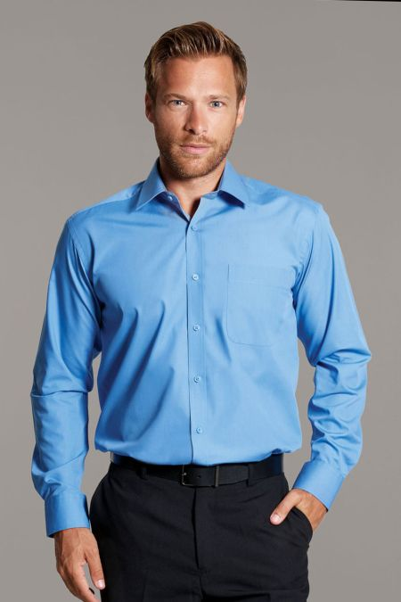 Disley Plain Classic Collar Cotton Rich Shirts
