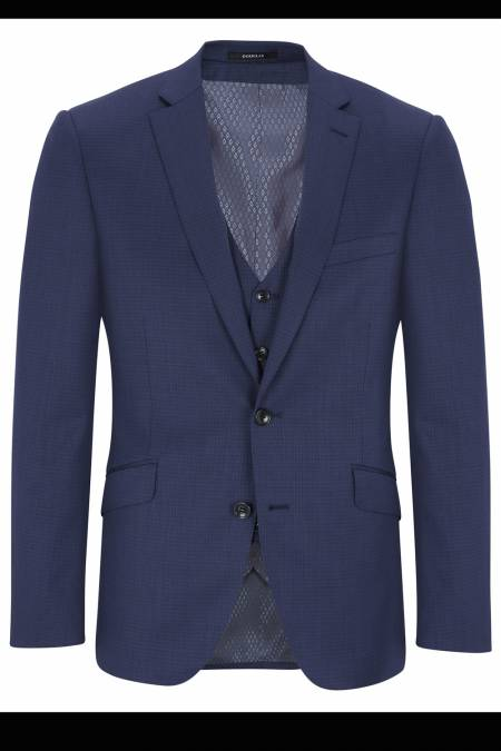 Douglas Romelo Fine Blue check Suit - Big mens suits