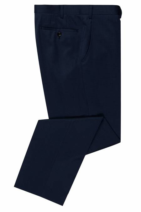 Douglas Romelo Fine Blue check Trousers