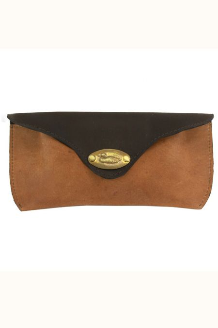 Duck Plate Leather Glasses Case