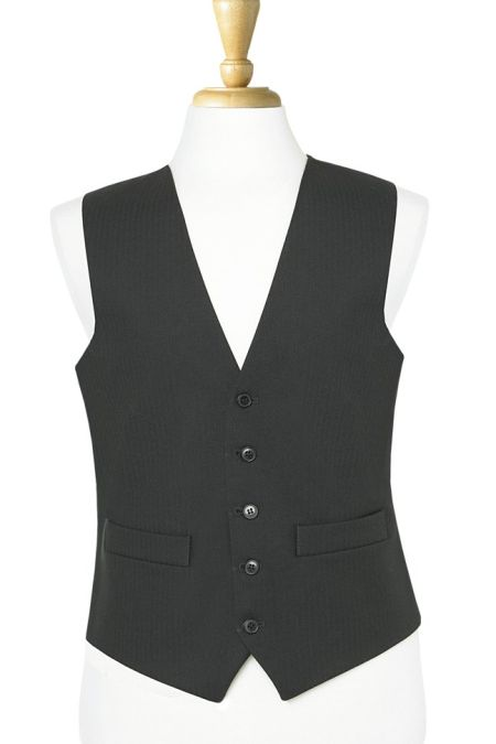 Formal Black Herringbone Waistcoat