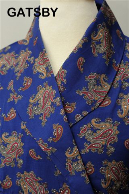 Gatsby Blue Paisley Lightweight Dressing Gown
