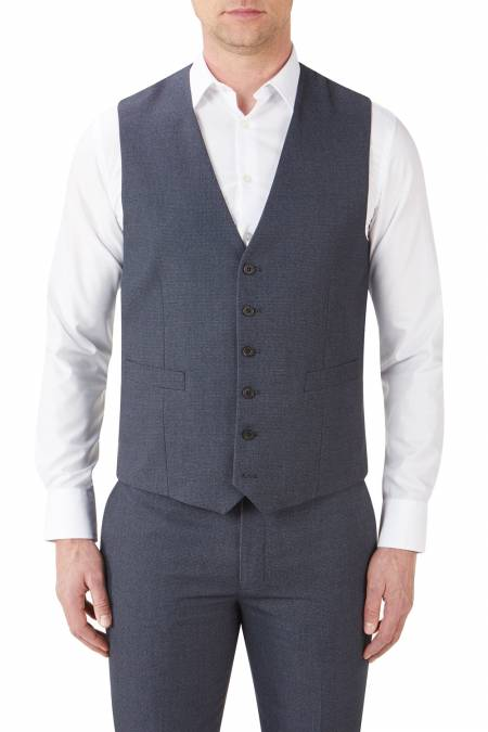 Harcourt Tweed effect 6 button waistcoat