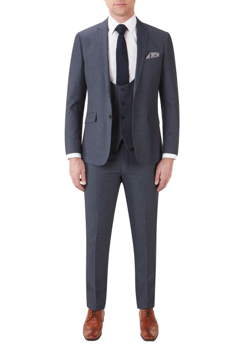 Harcourt tweed effect Slim Fit Suit