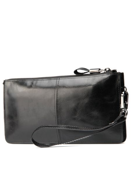 Hautton wrist bag glaze leather