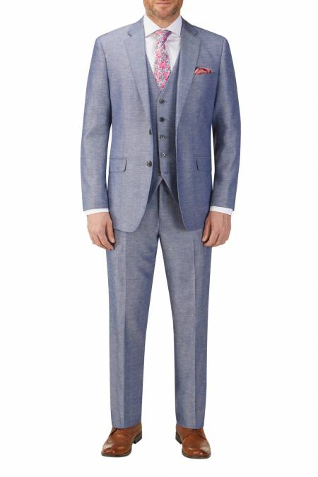 Heritage Collection Carlo Linen Blend Suit. - Plus size mens suits