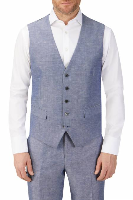 Heritage Collection Carlo Linen Blend Suit Waistcoat