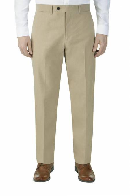 Heritage Collection Morant Linen Blend Suit Trouser in Stone.