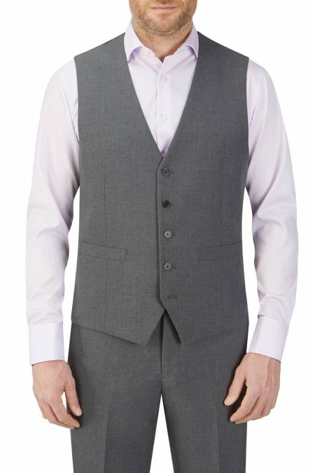 Hinchcliffe Tailored 5 Buttoned Charcoal Waistcoat