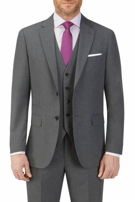 Hinchcliffe Tailored Suit Jacket in Charcoal