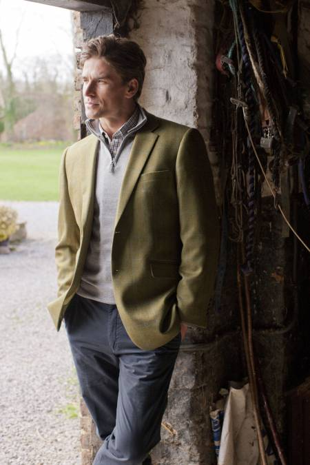 Hindhead Blue Check Pure Wool Tweed Jacket
