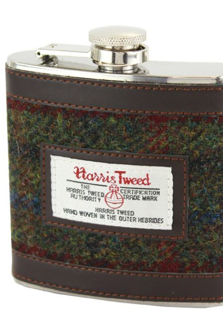 Hip Flask Harris tweed