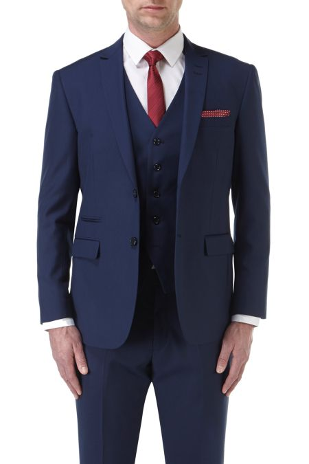 Kennedy Tailored Suit Jacket Royal Blue