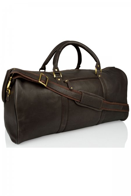 Large Woodland Leather Holdall