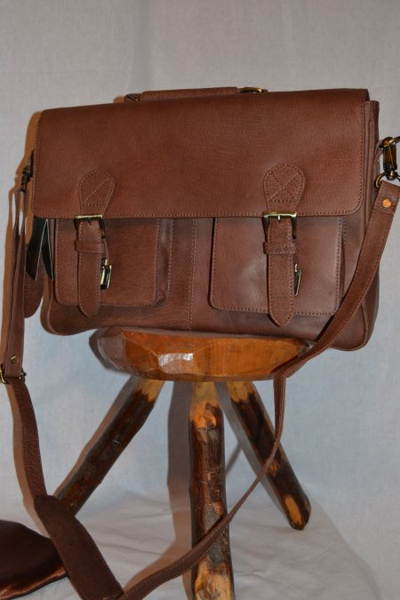 Leather Briefcase Satchel Bag