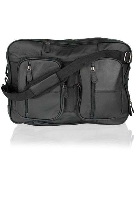 Leather Versatile Overnight/ Laptop Bag with shoulder straps