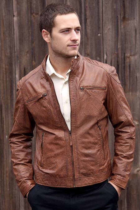 Leather Zip Jacket From Woodland