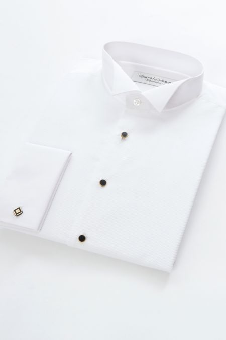 Marcella front wing collar shirt