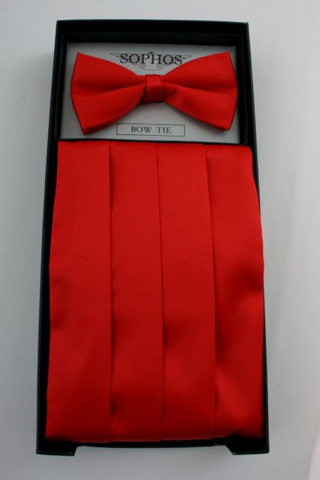 Mens Cummerbunds and Tie Set