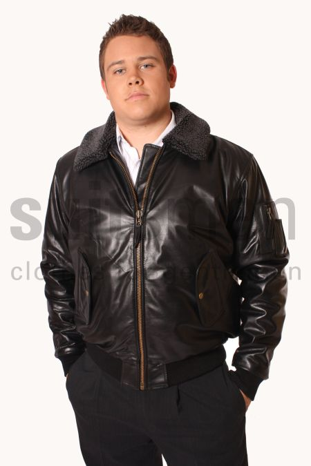 Men's Detachable Fur Aviator Jacket
