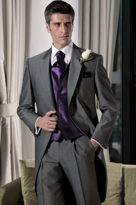 Men's lightweight Mohair Morning Suit - Plus size mens suits