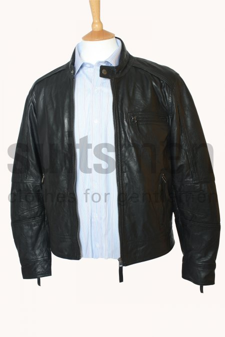 Men's Perforated Bomber Jacket