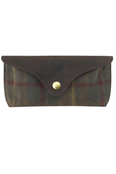 Millerain Waxed Tweed Glasses Case