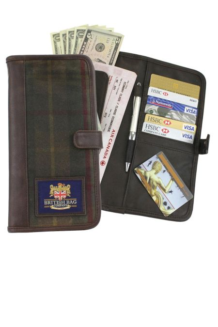 Millerain Waxed Tweed Travel Wallet