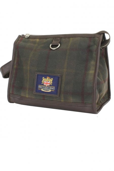 Millerain Waxed Tweed Washbag